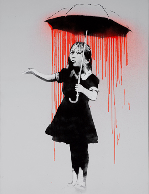 Banksy Nola Red