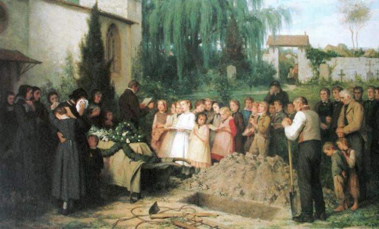 Children's funeral,  Albert Anker
