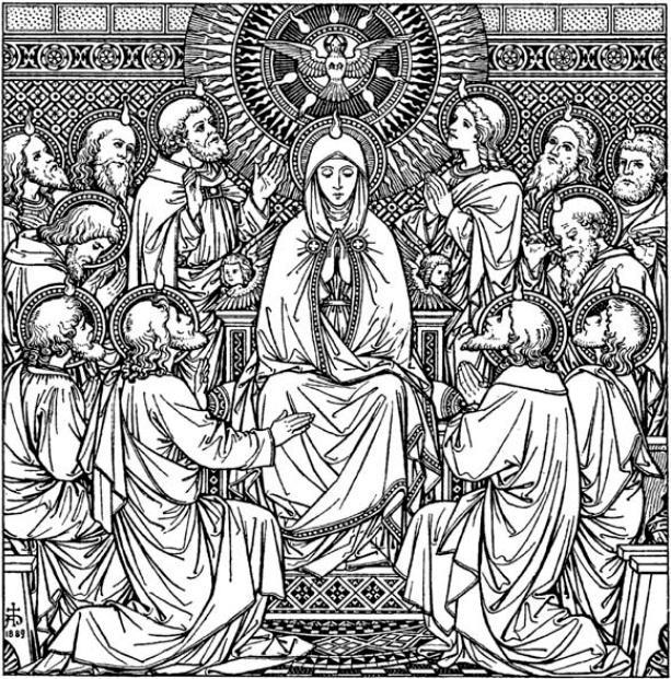 Pentecost w: Mary